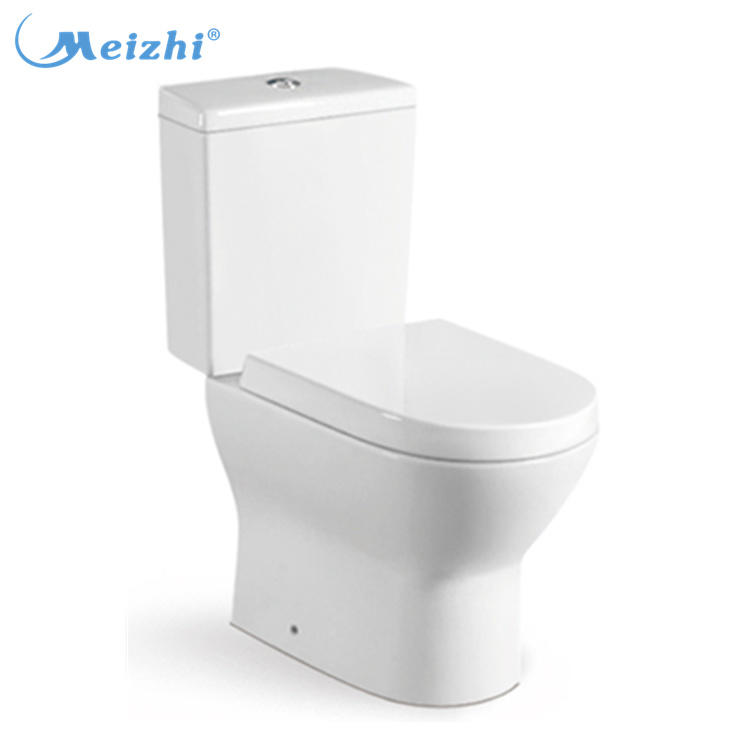Best selling in Ghana Nigeria bathroom two piece toilet wash down