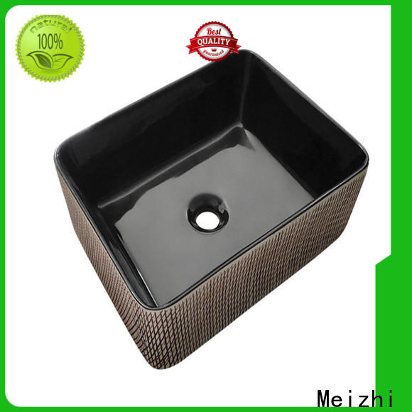 Meizhi ceramic basin black supplier for washroom