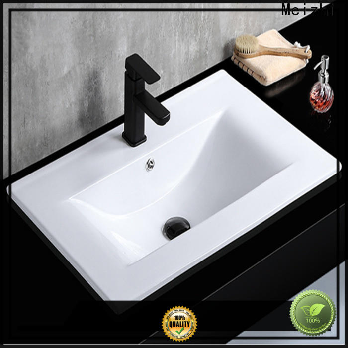 Meizhi high quality wash basin designs with cabinet supplier for hotel