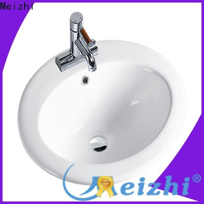 Meizhi counter top basins supplier for washroom