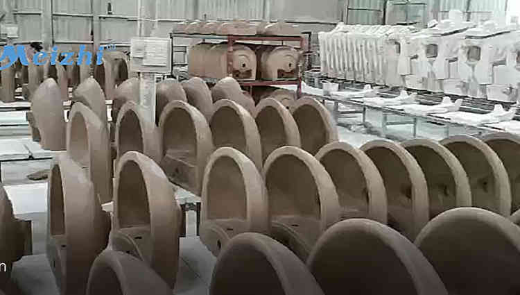 Sanitary ware manufacturer ceramic pedestal basin production line