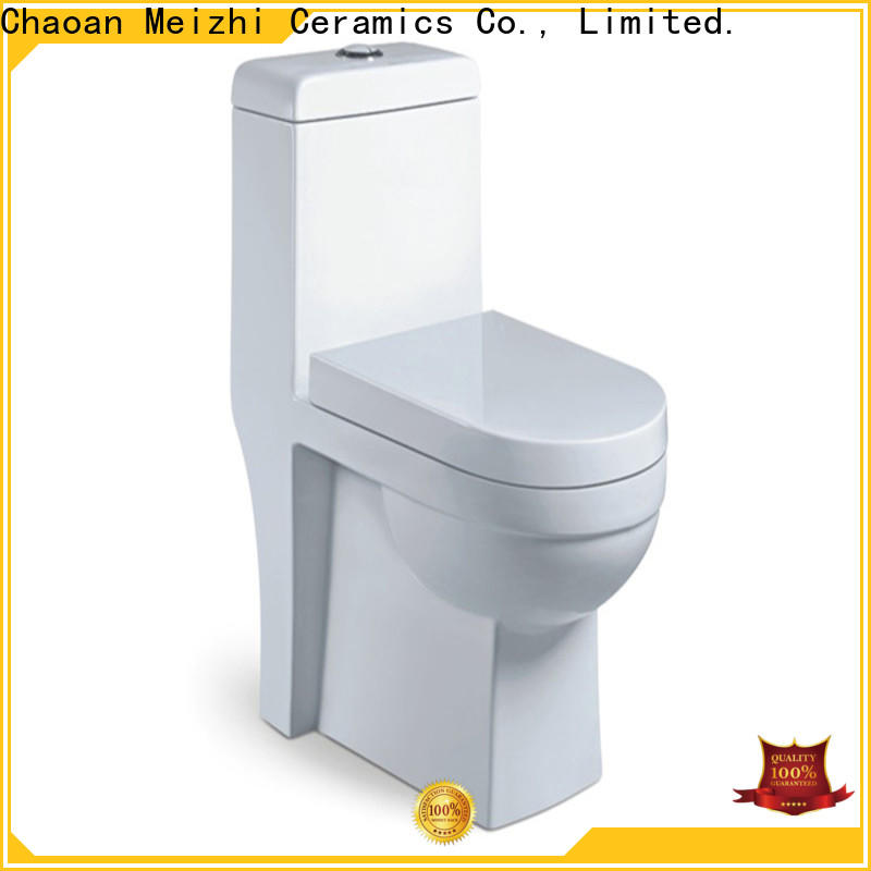 Meizhi square best one piece toilet directly sale for hotel