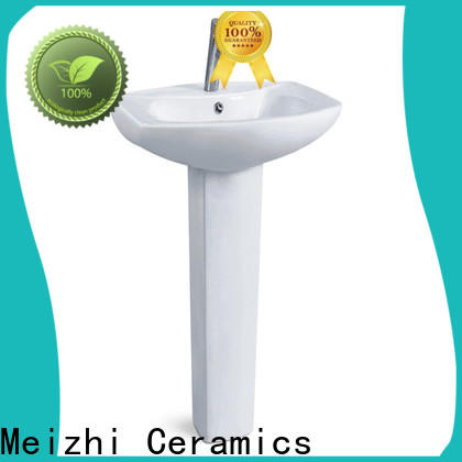 high quality half pedestal basin directly sale for hotel