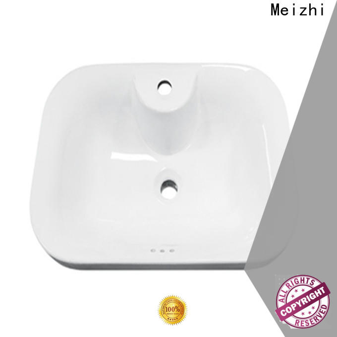 Meizhi countertop sink manufacturer for hotel