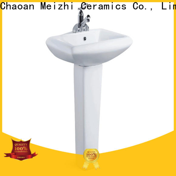Meizhi popular half pedestal basin customized for hotel