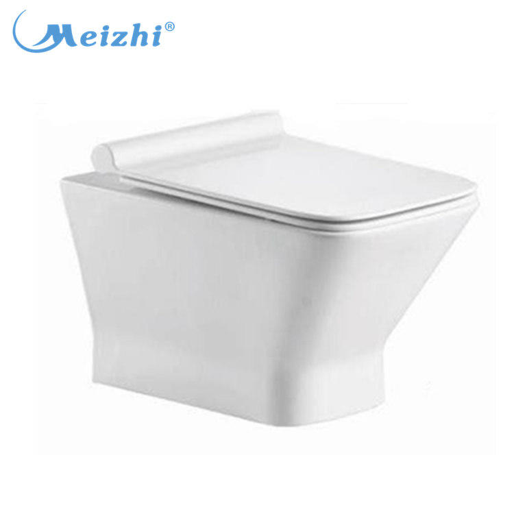 China manufacturer ceramic rimless wall mounted toilet bowl
