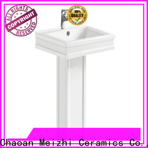 Meizhi popular full pedestal basin directly sale for washroom
