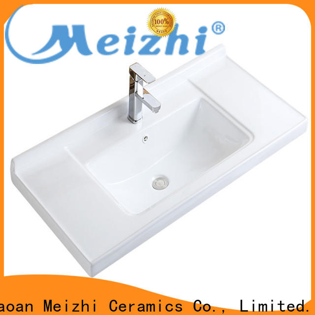 Meizhi ceramic bathroom basin units supplier for bathroom