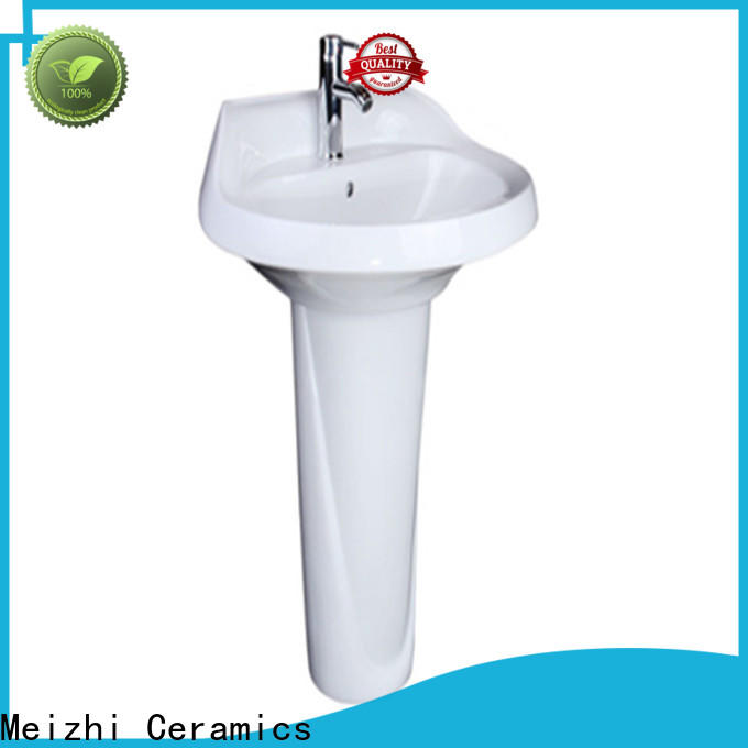 Meizhi popular pedestal wash basin customized for home