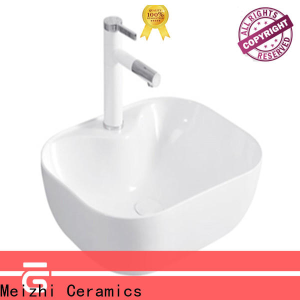 Meizhi fancy toilet hand basin customized for washroom