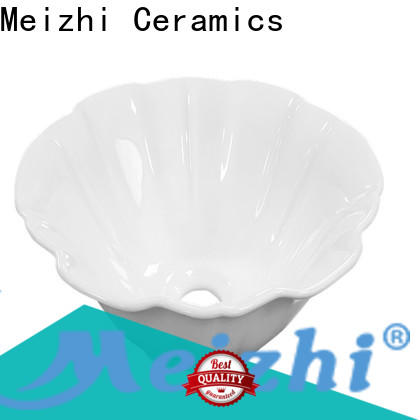 Meizhi white ceramic basin factory price for home