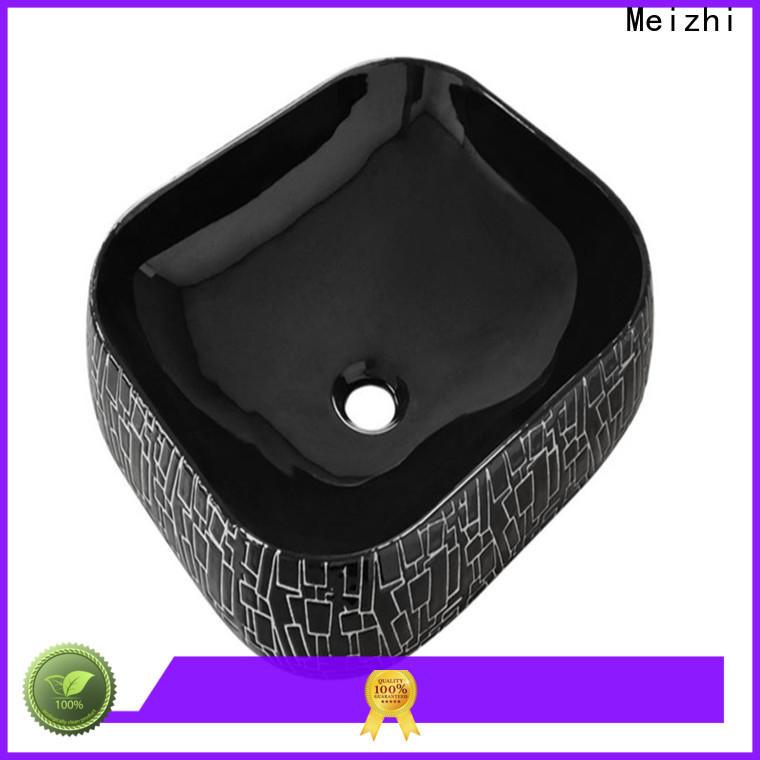 Meizhi black bathroom sink manufacturer for washroom