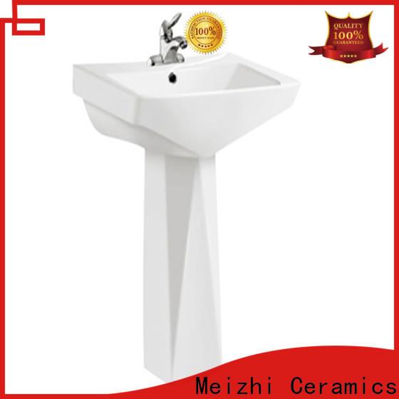 contemporary half pedestal basin manufacturer for home