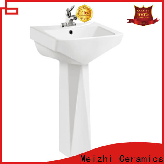 contemporary half pedestal basin manufacturer for home