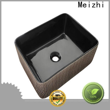 ceramic black sink basin factory for washroom