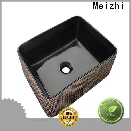 ceramic black sink basin factory for washroom