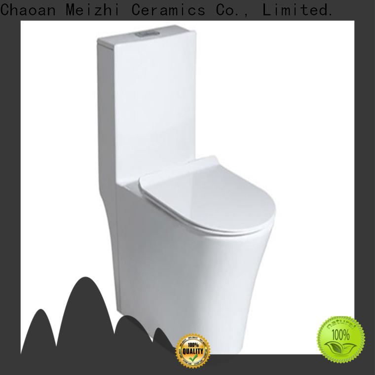 Meizhi self-cleaning one piece round toilet customized for washroom