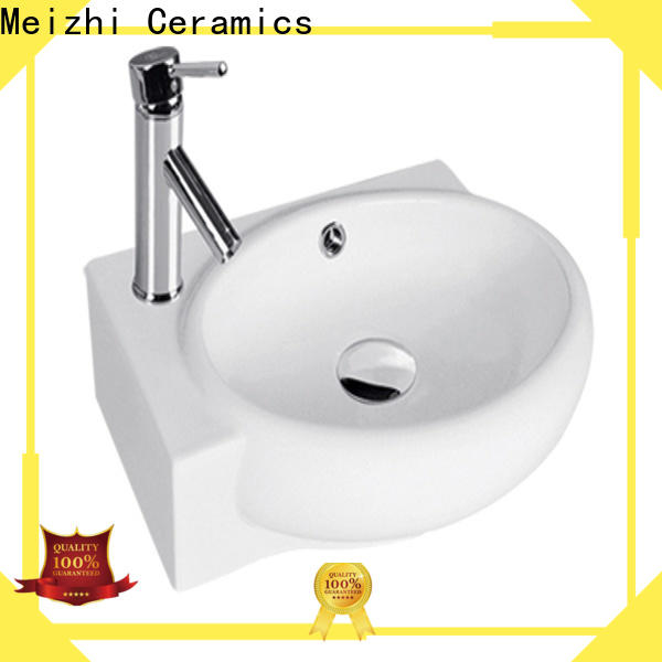 Meizhi wall hung basin factory for hotel