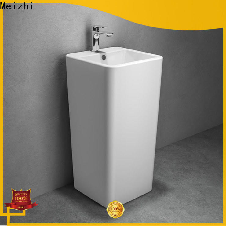 Meizhi small pedestal sink with good price for hotel