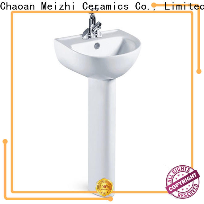 Meizhi half pedestal basin directly sale for bathroom