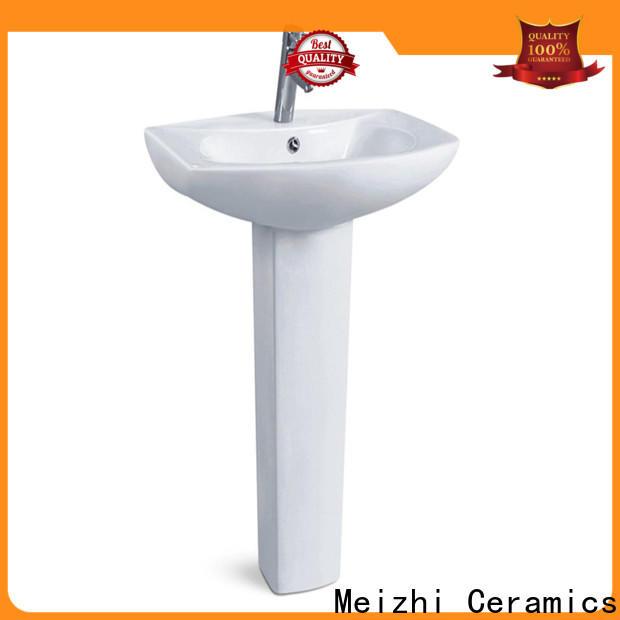 Meizhi modern pedestal sink customized for bathroom