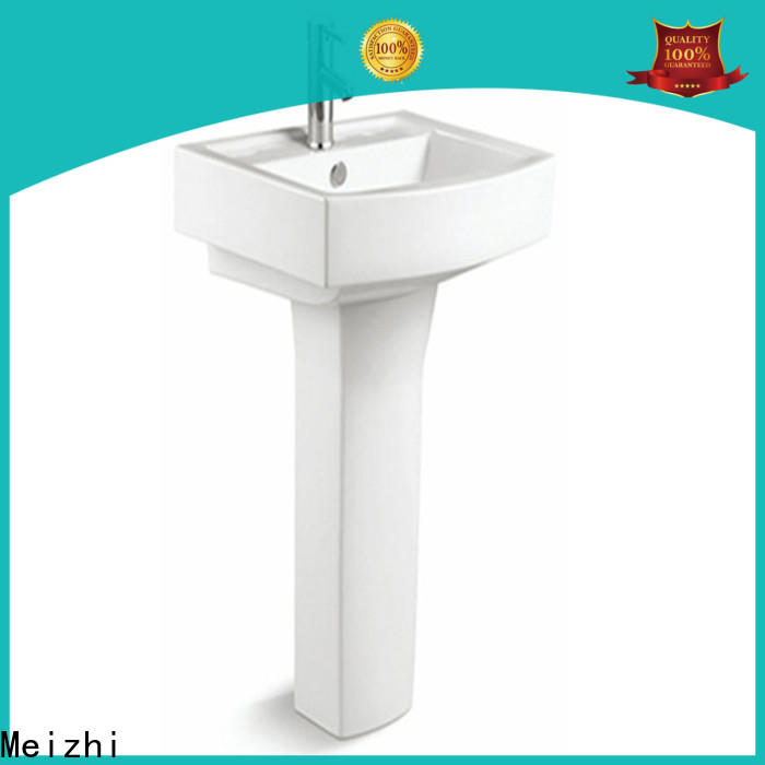 Meizhi contemporary corner basin with pedestal directly sale for home