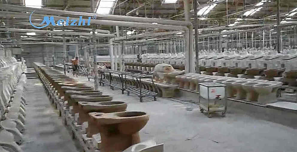 Bathroom sanitary ware two piece toilet production line