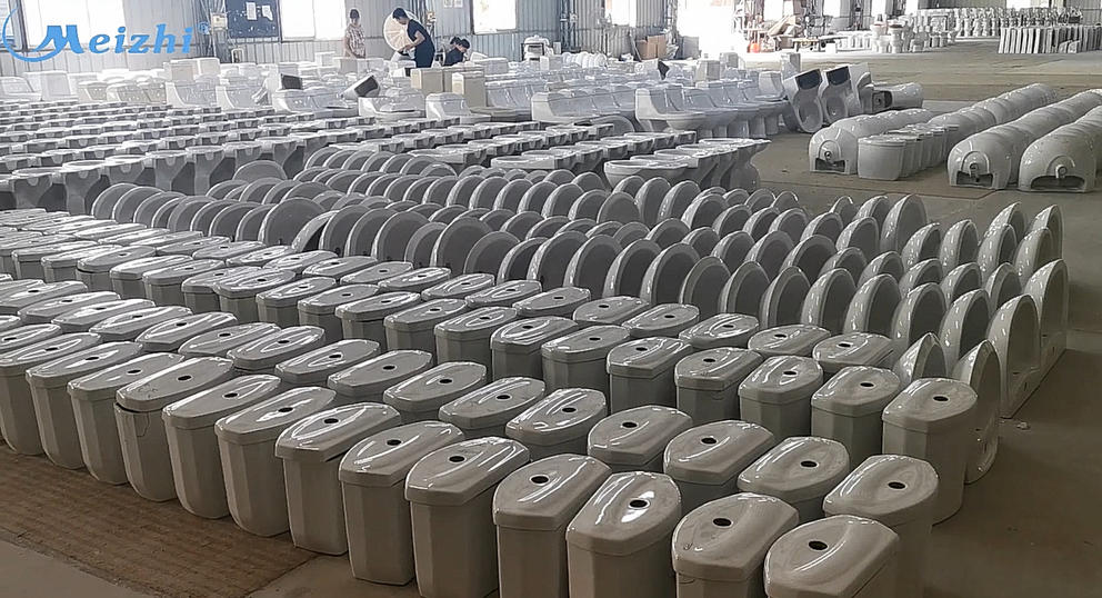 Sanitary ware factory ceramic toilet and basin Quality inspection