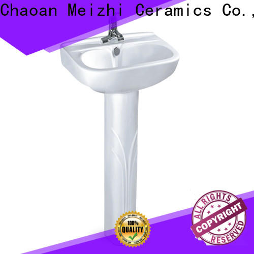 high quality full pedestal basin customized for hotel