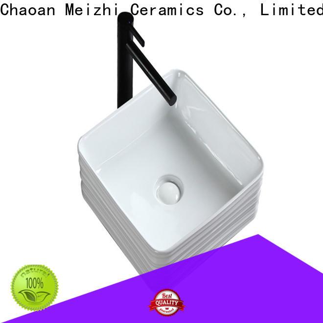 Meizhi white stylish wash basin wholesale for bathroom
