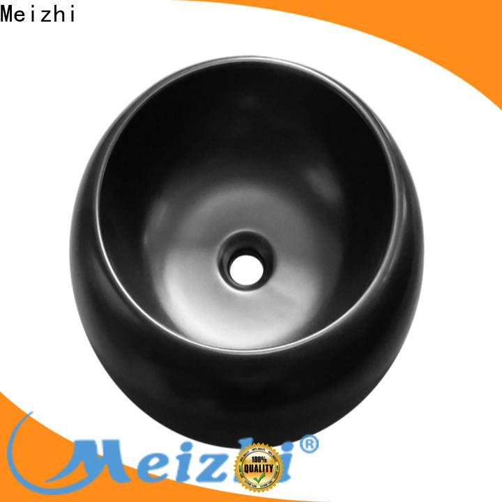 Meizhi black bathroom basin factory price for hotel