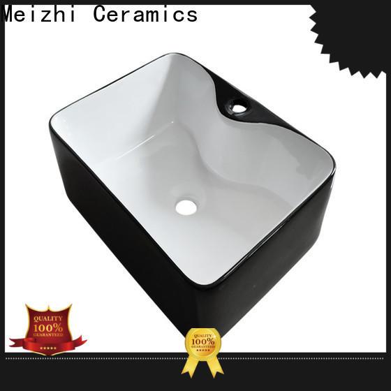 custom design black basin supplier for bathroom
