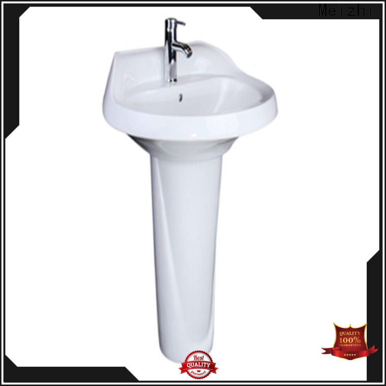 Meizhi popular corner basin with pedestal factory for bathroom