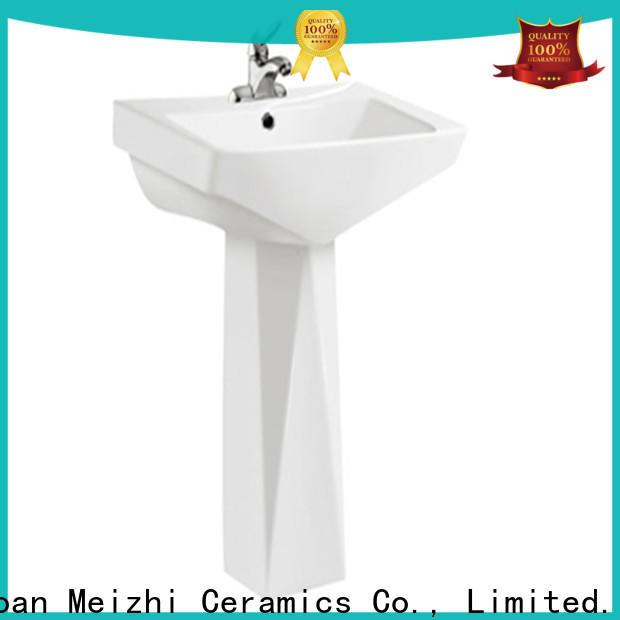 Meizhi pedestal lavatory manufacturer for hotel