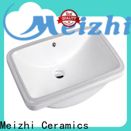 Meizhi ceramic above counter sink wholesale for hotel