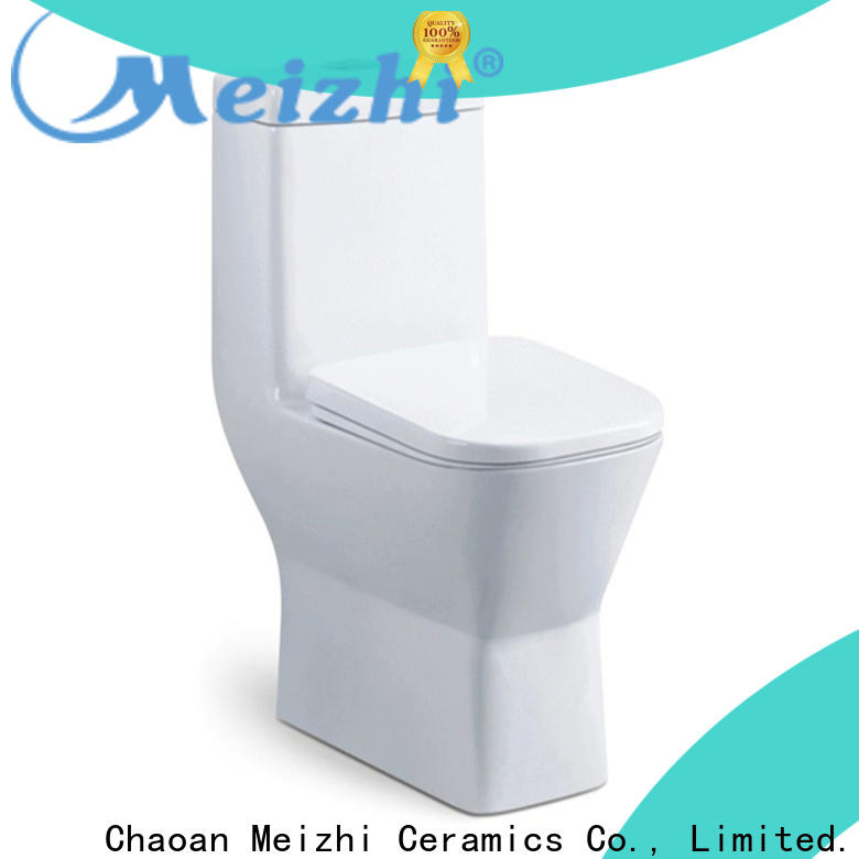 Meizhi self-cleaning one piece round toilet wholesale for bathroom