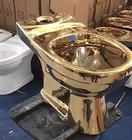 Bathroom ceramic gold color toilet