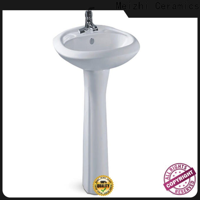 Meizhi popular modern pedestal sink customized for home