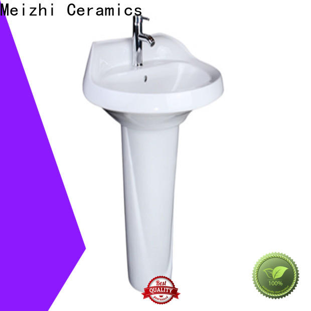 contemporary half pedestal basin wholesale for washroom