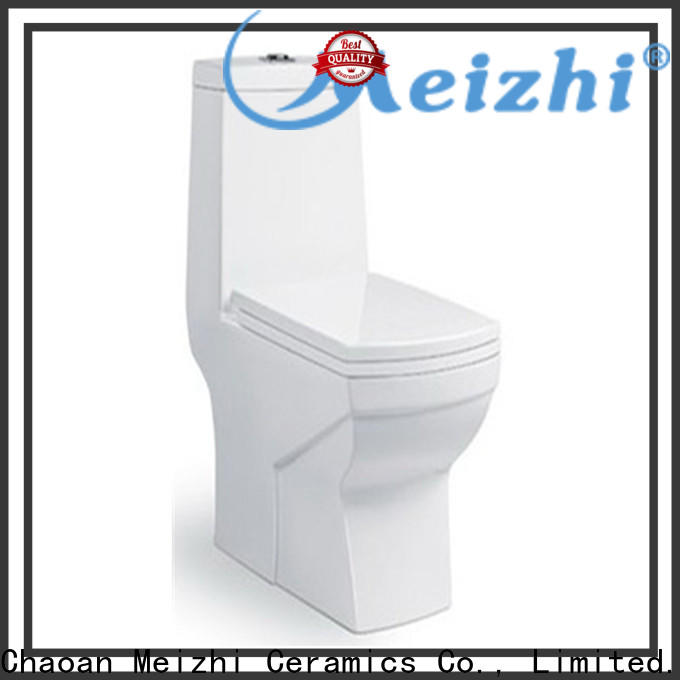 Meizhi siphonic one piece elongated toilet wholesale for bathroom