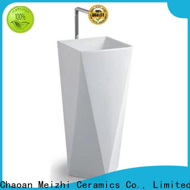 Meizhi half pedestal basin manufacturer for hotel