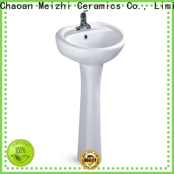 Meizhi popular modern pedestal sink manufacturer for home