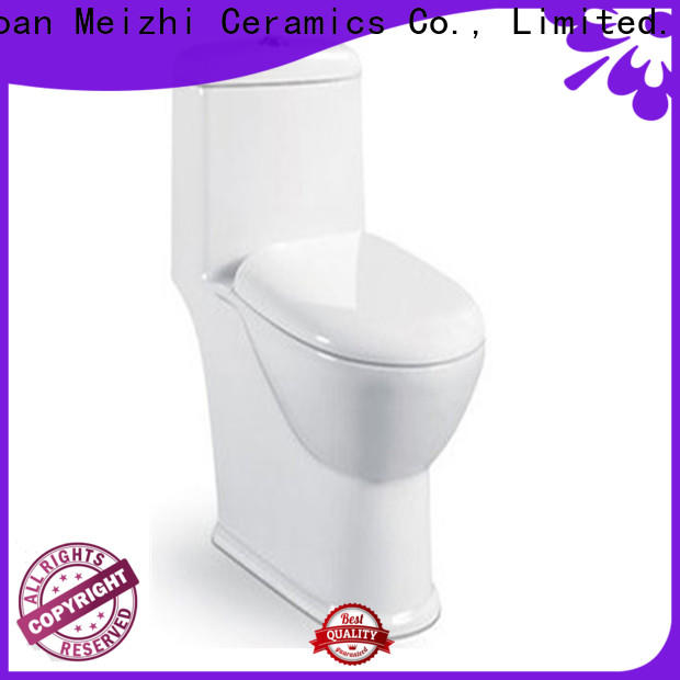 Meizhi colored one piece elongated toilet customized for hotel