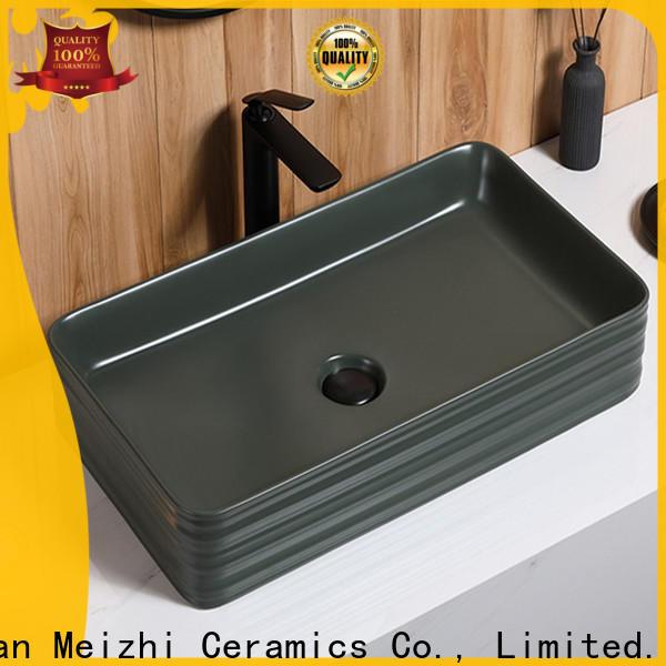 Meizhi black sink basin wholesale for washroom