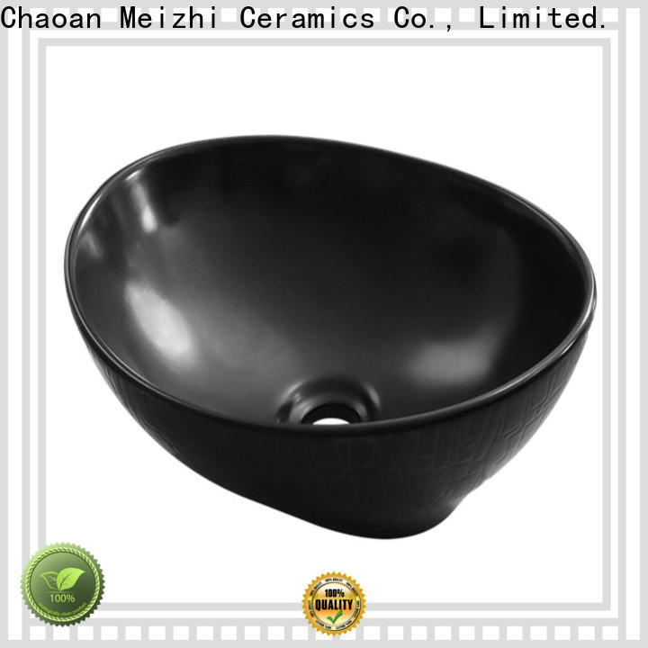 high quality black bathroom sink factory for cabinet