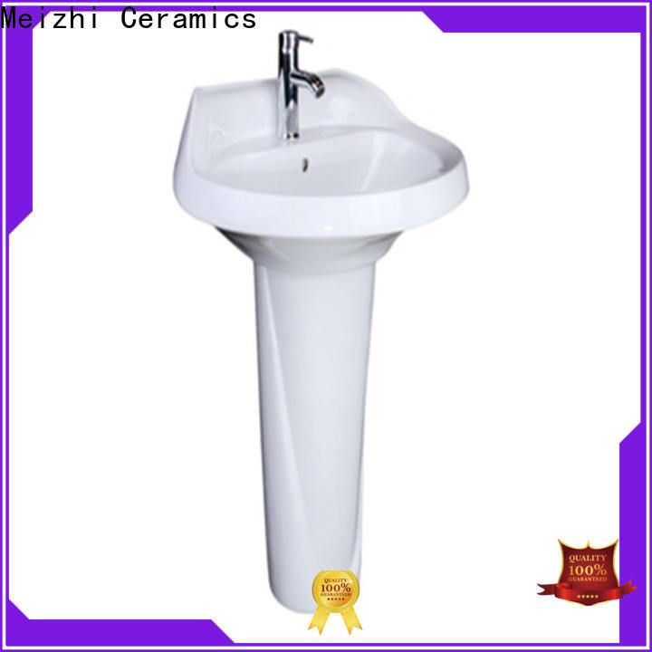 Meizhi small pedestal sink manufacturer for home