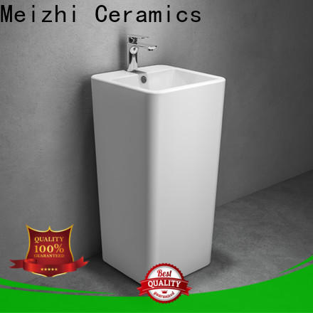 contemporary full pedestal basin factory for hotel