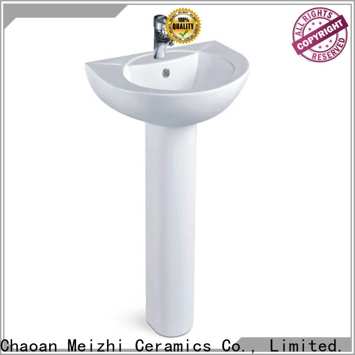 Meizhi half pedestal basin wholesale for hotel