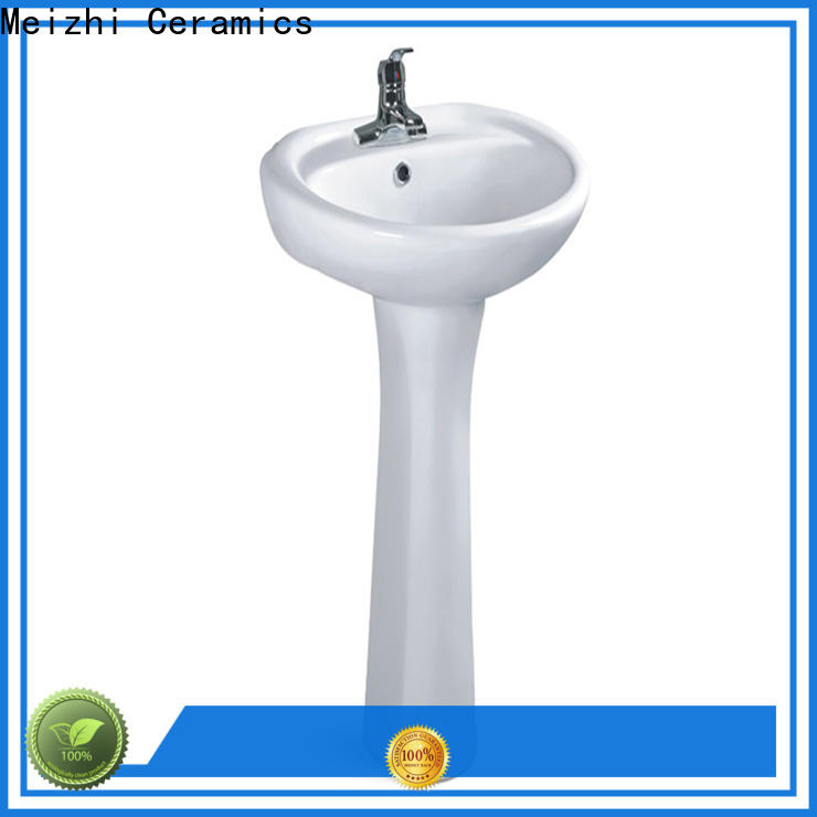 ceremic full pedestal basin customized for home