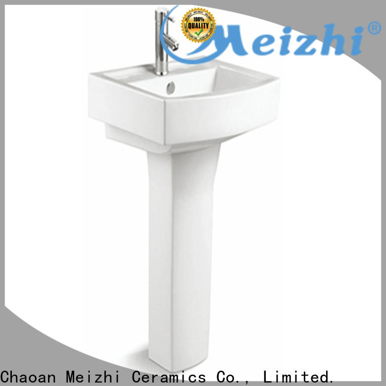 Meizhi contemporary basin and pedestal manufacturer for washroom
